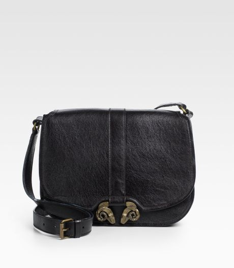 Derek Lam Large Ume Calfskin Shoulder Bag in Black