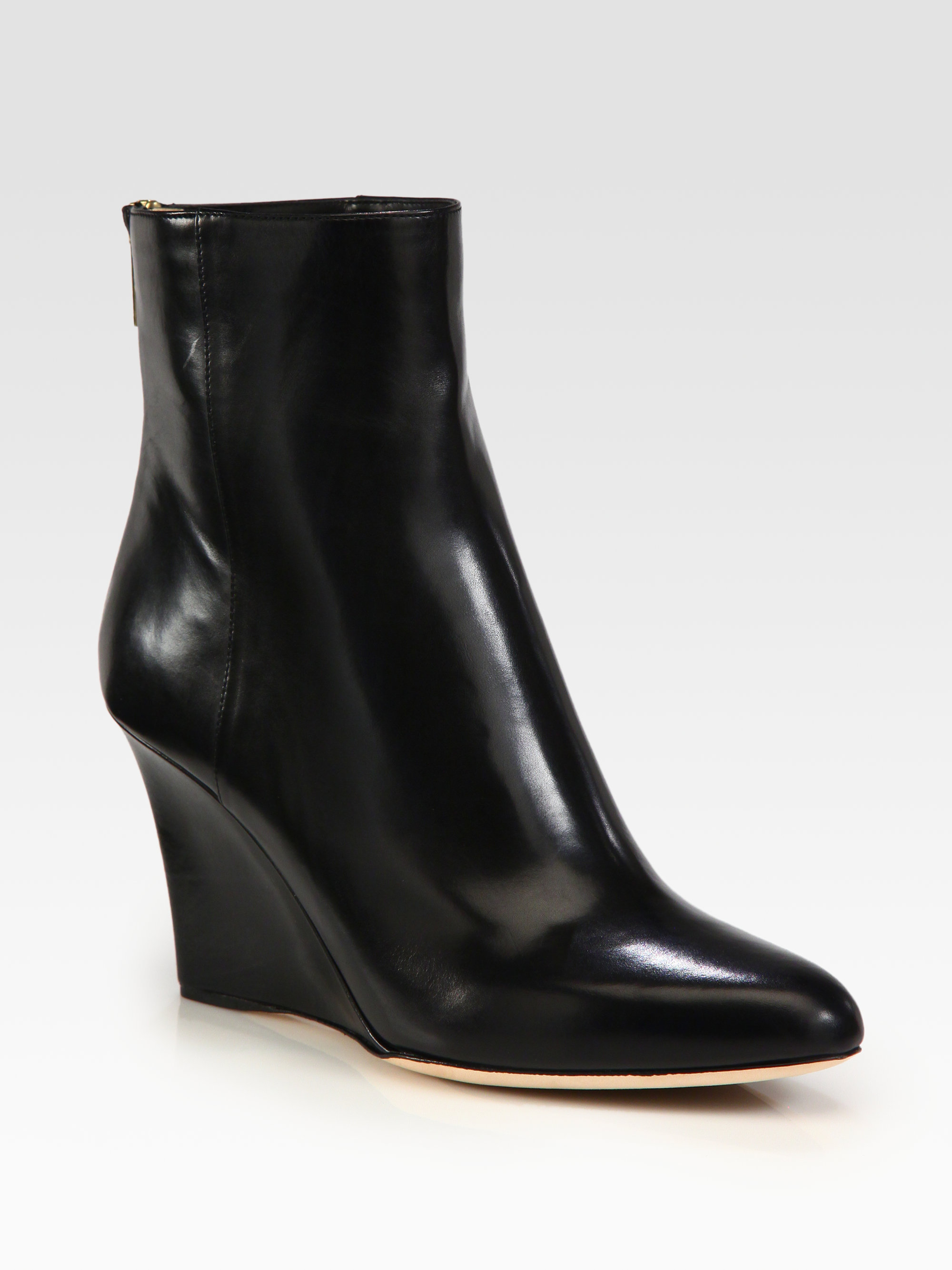 52287197752d ... clearance lyst jimmy choo mayor leather wedge ankle boots in black  e080b a57fa ...