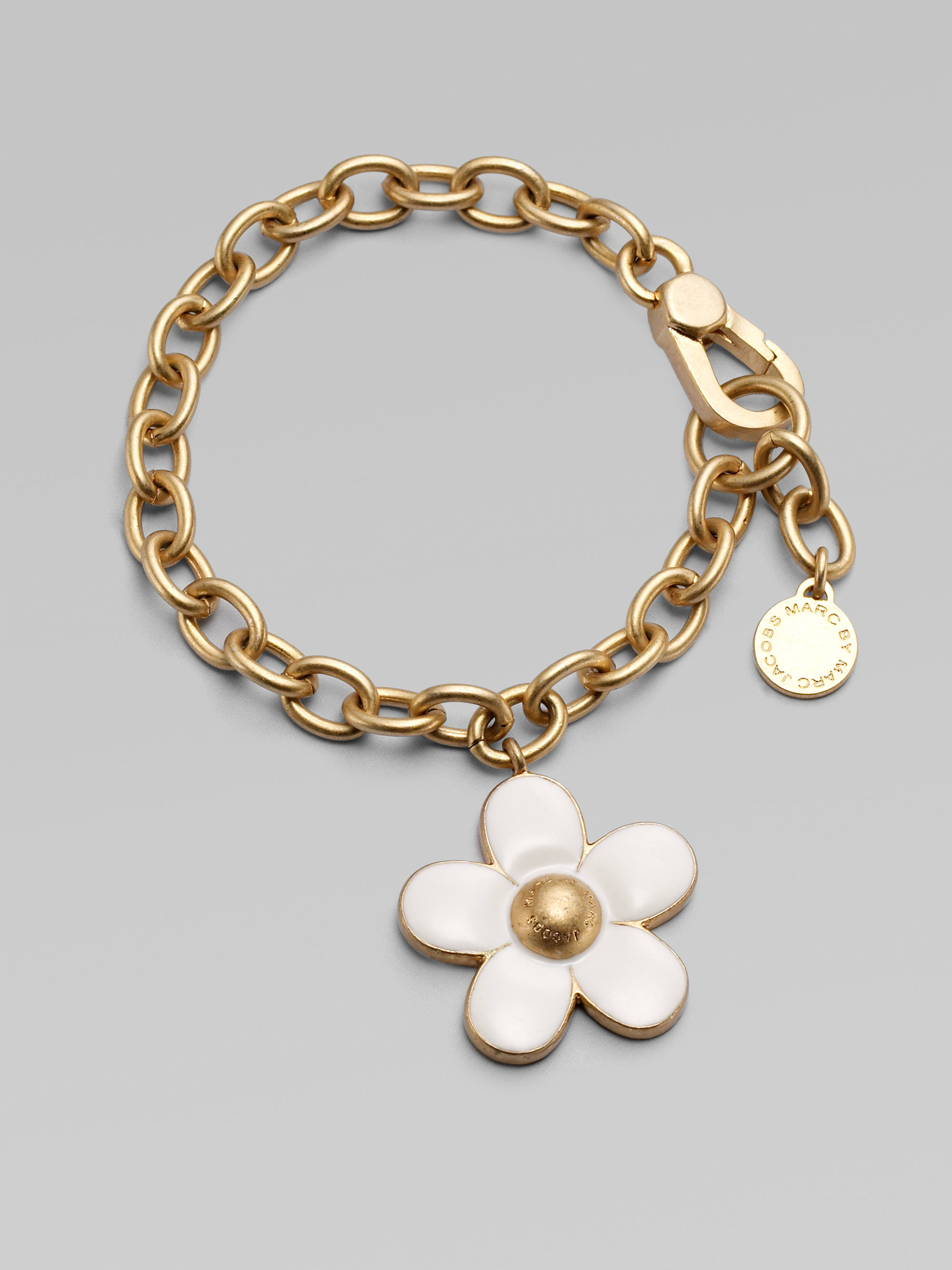Marc by marc jacobs Daisy Charm Bracelet in Metallic
