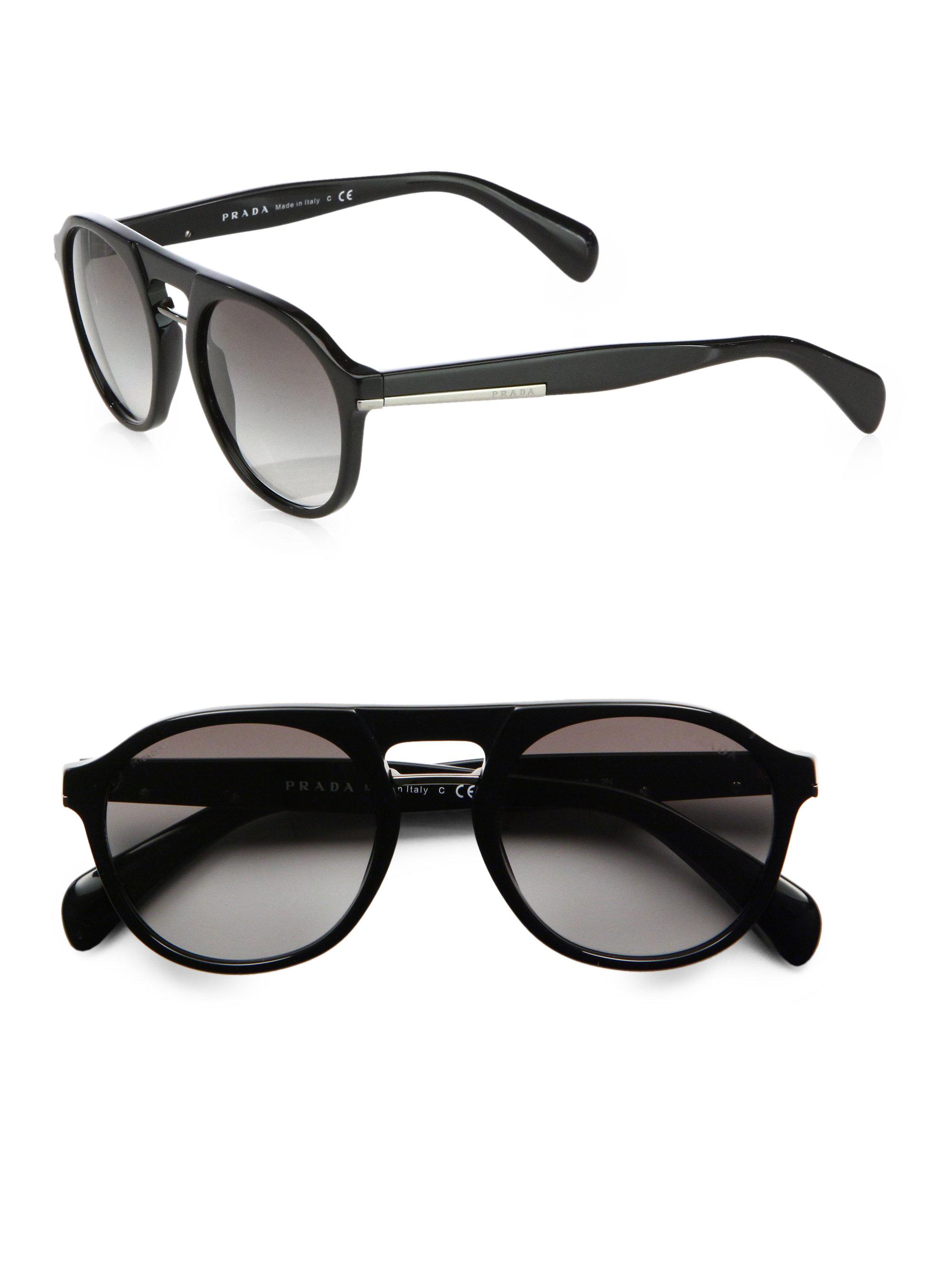 a9cfc1d5a526 ... france prada plastic keyhole sunglasses in black for men lyst d4901  dcd29