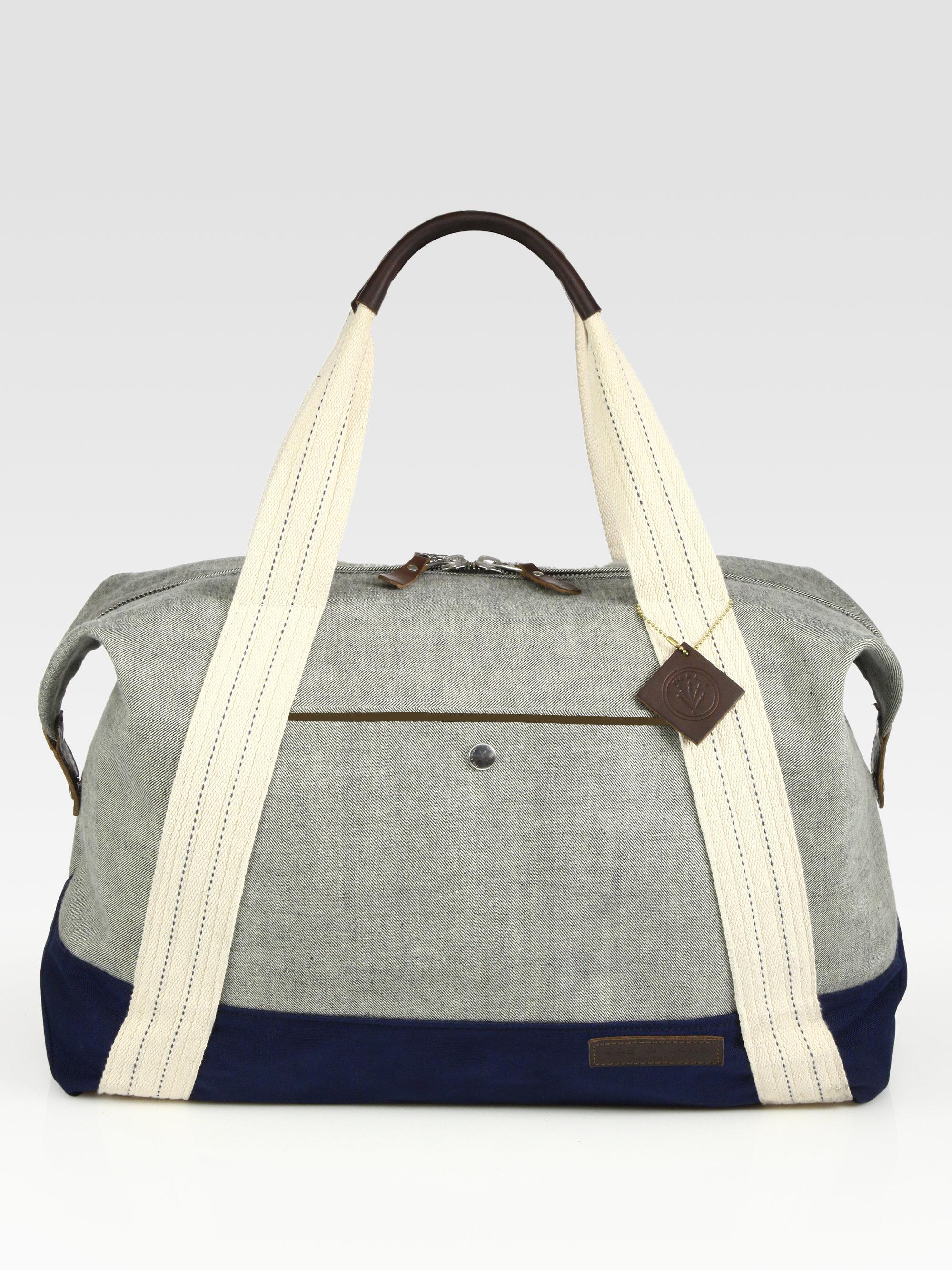 rag bone denim duffle bag in blue indigo lyst