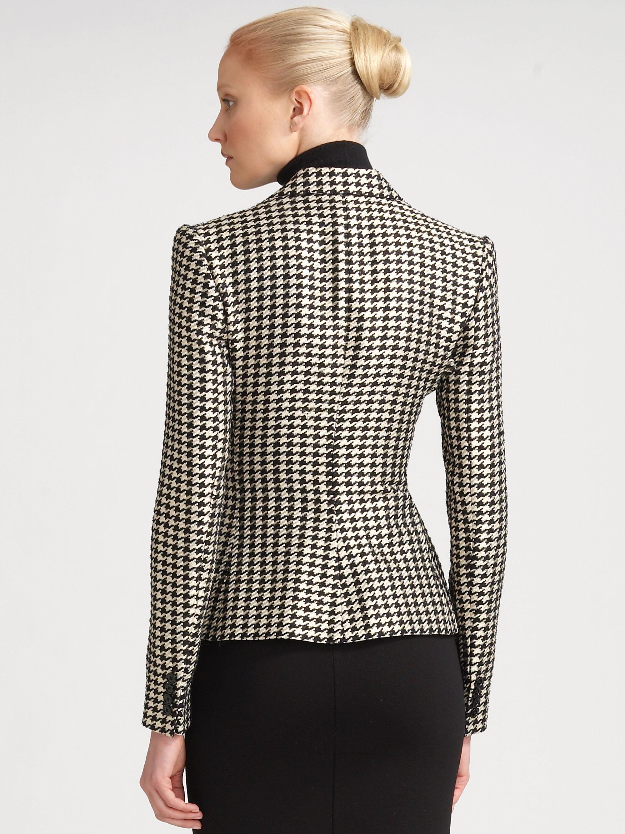 Ralph Lauren Collection Lucinda Houndstooth Jacket In