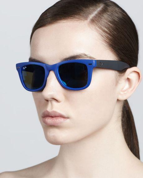 Ray Ban Folding Wayfarer Blue