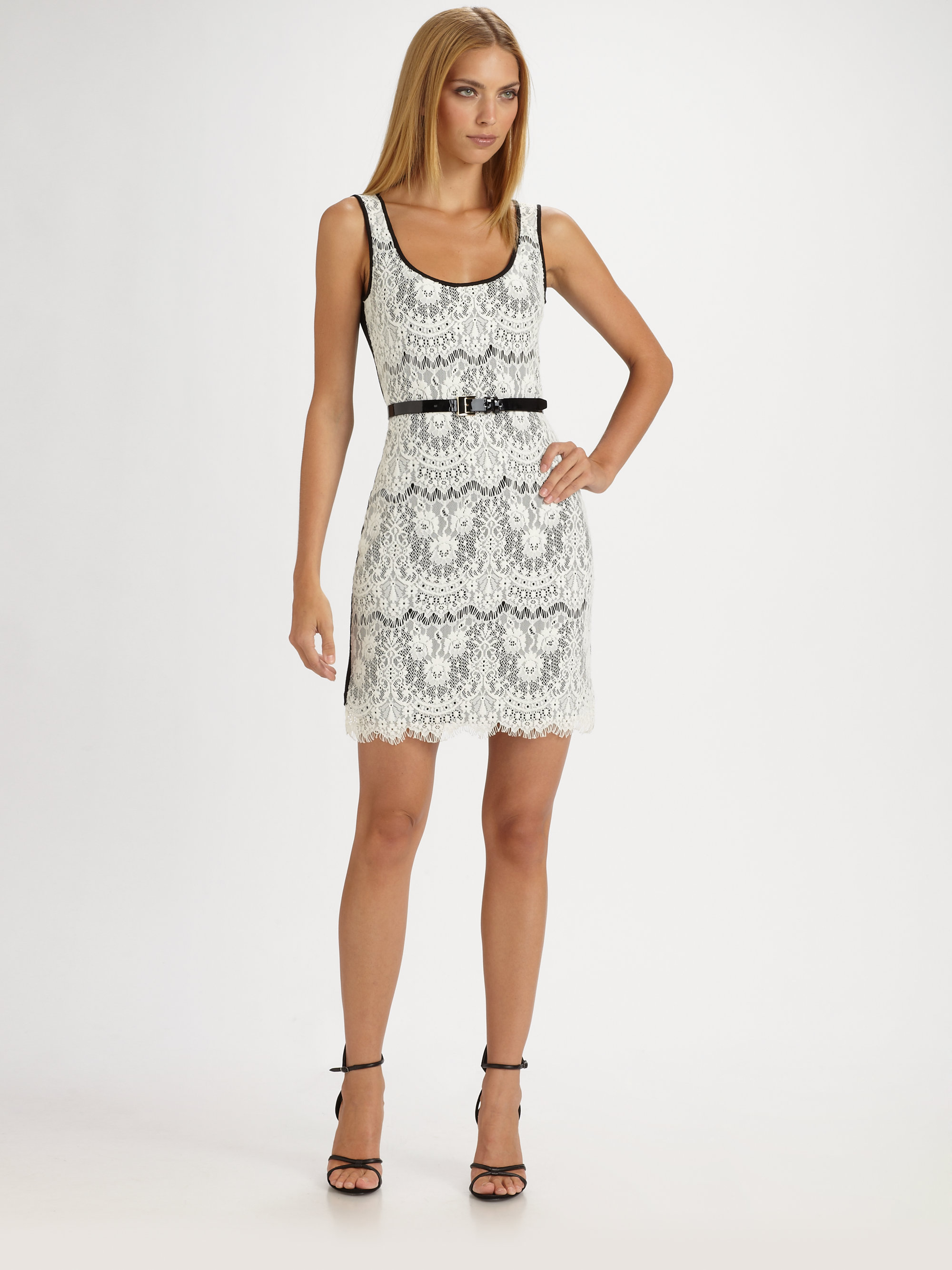Royal underground Lace Tank Dress in White | Lyst