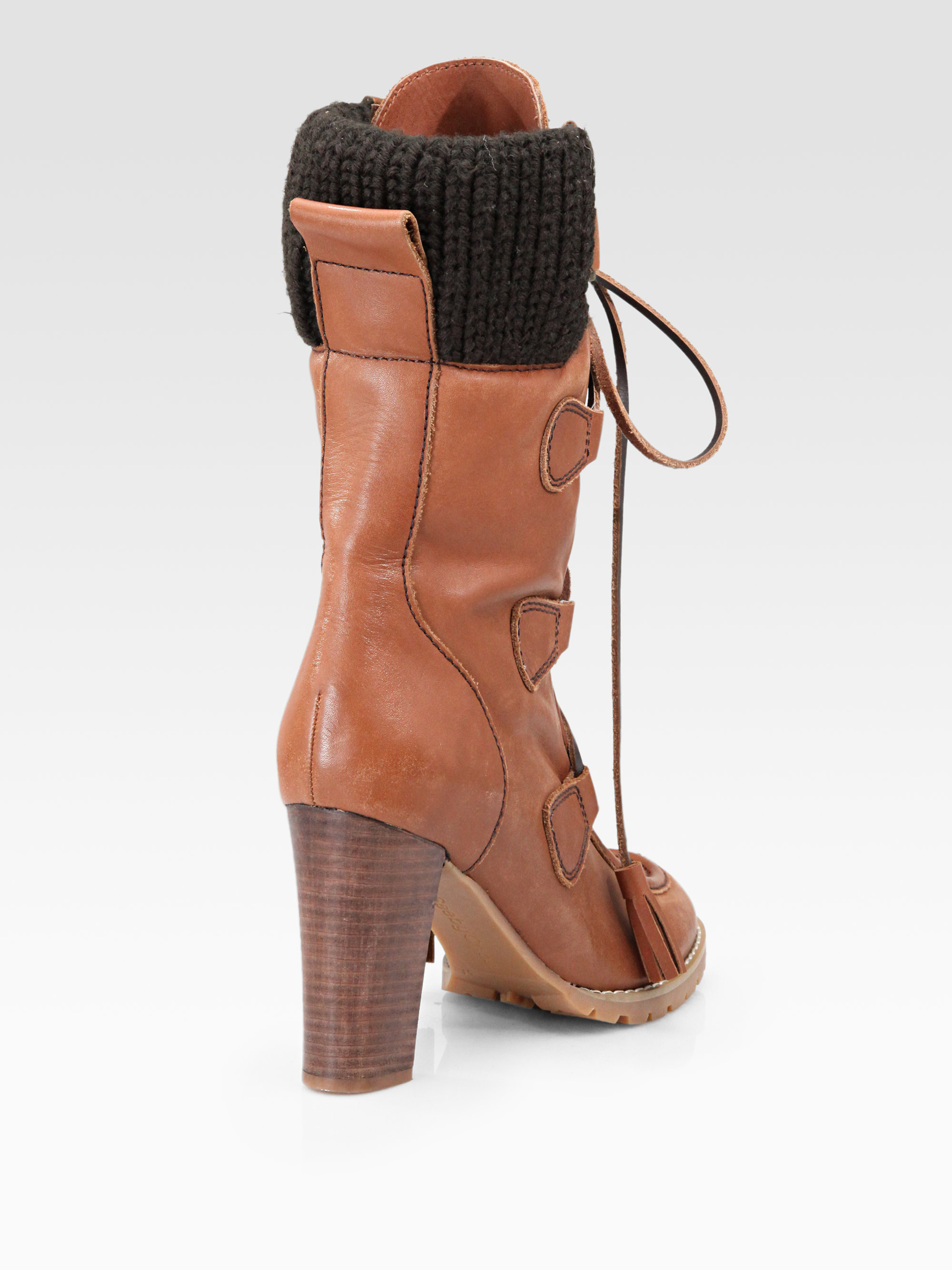 Salvador western leather boots See By Chlo nMbqyNv