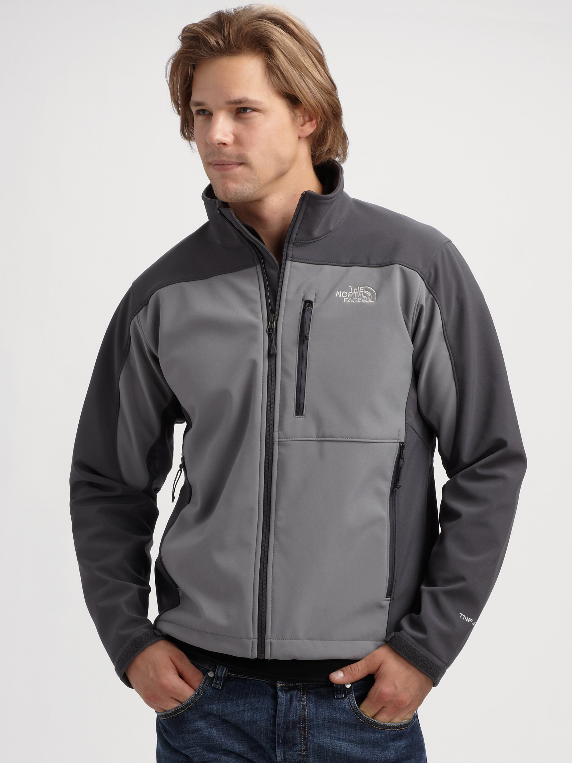 1ea74cd61c93 ... closeout lyst the north face apex bionic jacket in gray for men 12c74  a0f95 ...