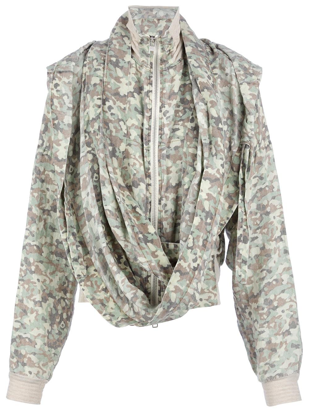 Bernhard Willhelm Knitted Zip Hood Jacket with Scarf in Green for Men Lyst