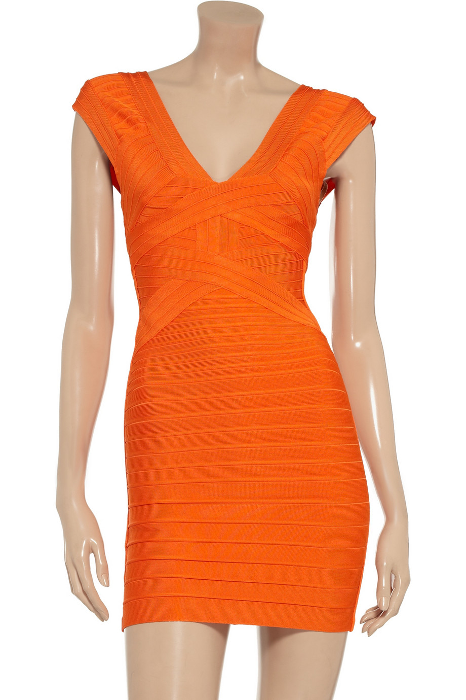 Hervu00e9 Lu00e9ger Bandage Dress In Orange - Lyst
