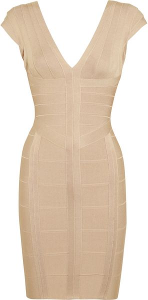 Hervé Léger Bandage Mini Dress - Lyst