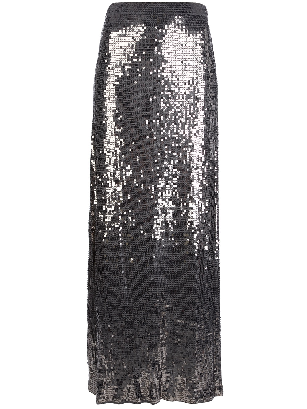 michael michael kors sequined maxi skirt in gray grey lyst
