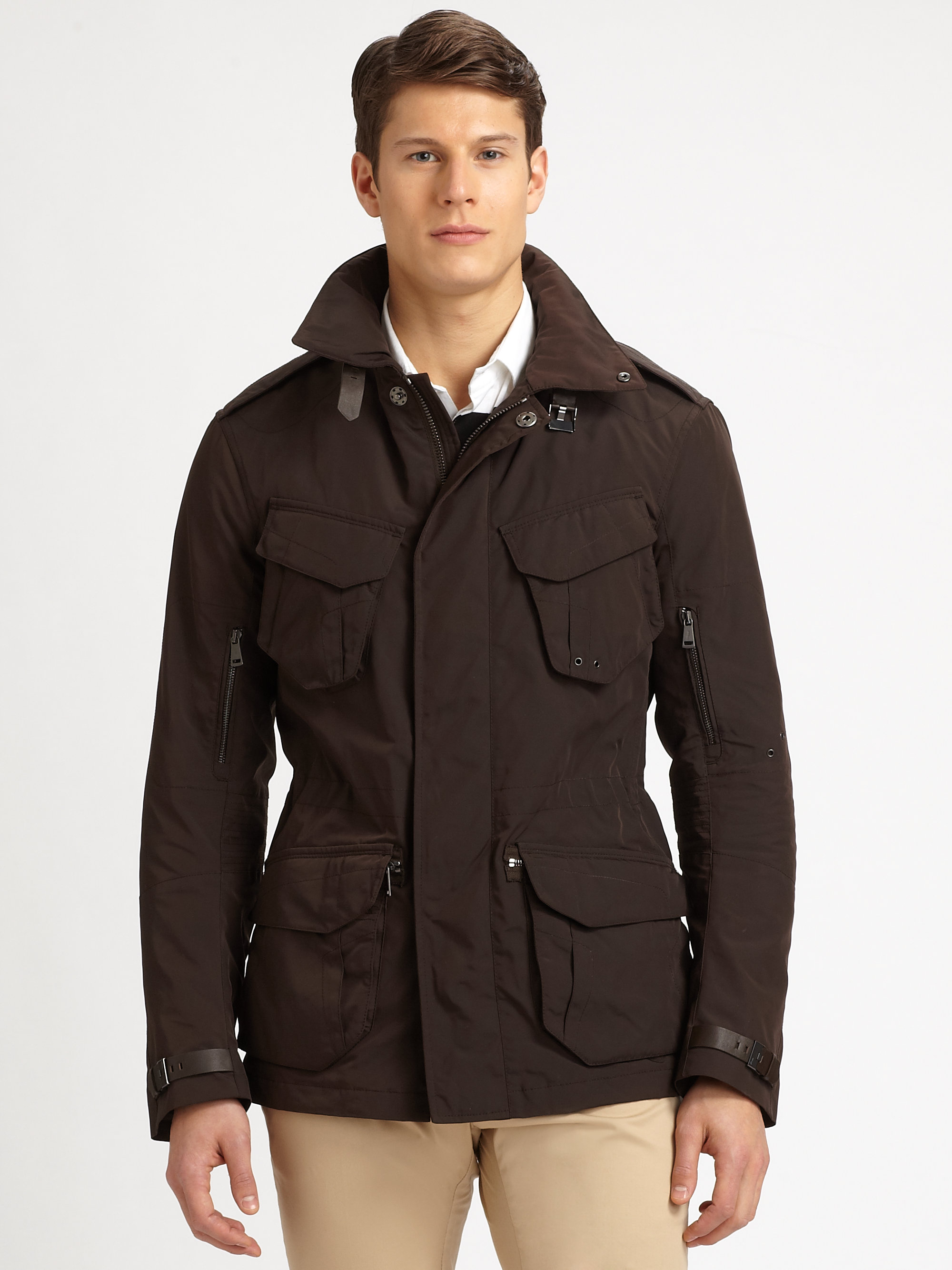 Ralph lauren black label Filled Escape Jacket in Brown for Men | Lyst