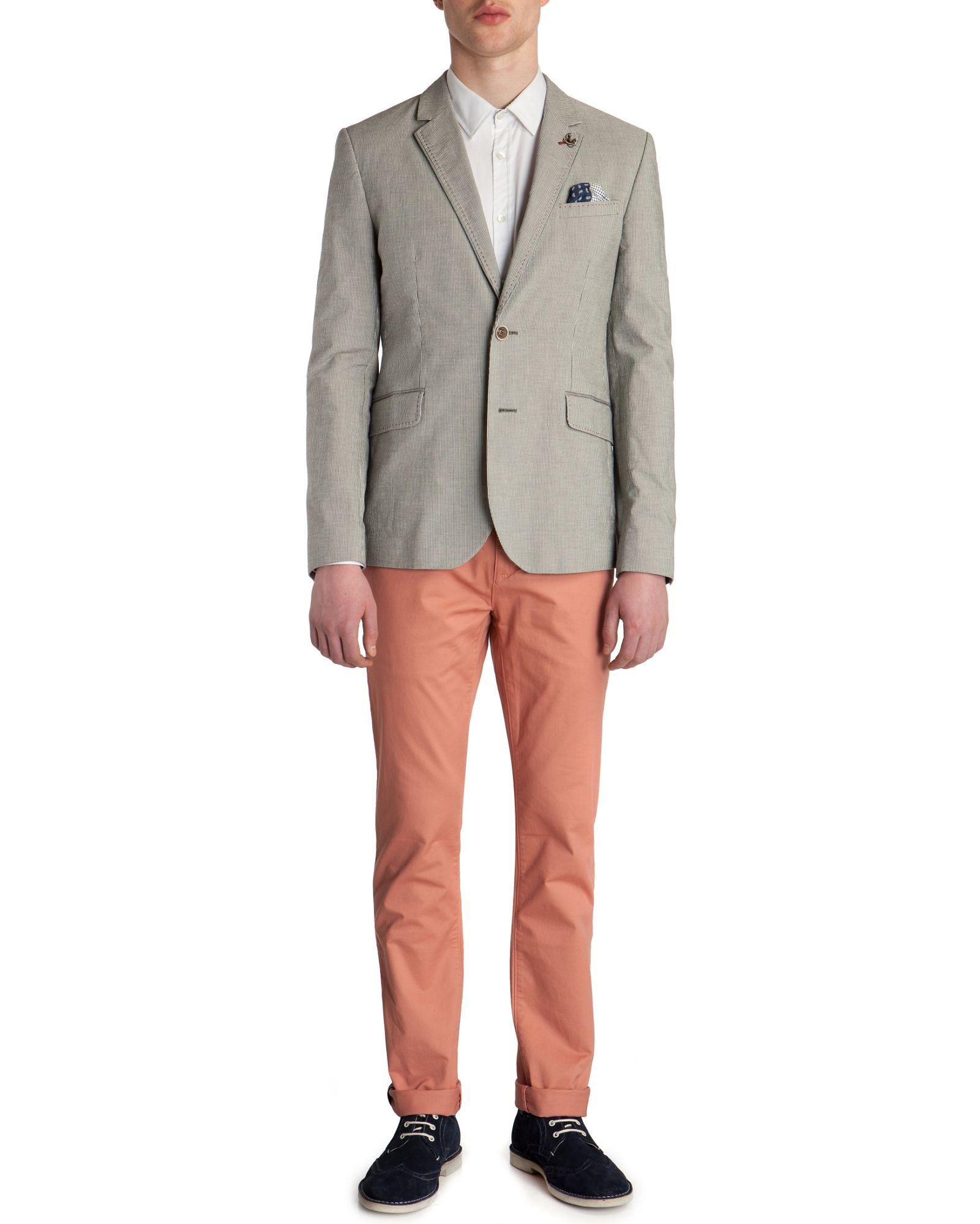 Ted Baker Carpz Single Button Blazer in Grey (Grey) for Men