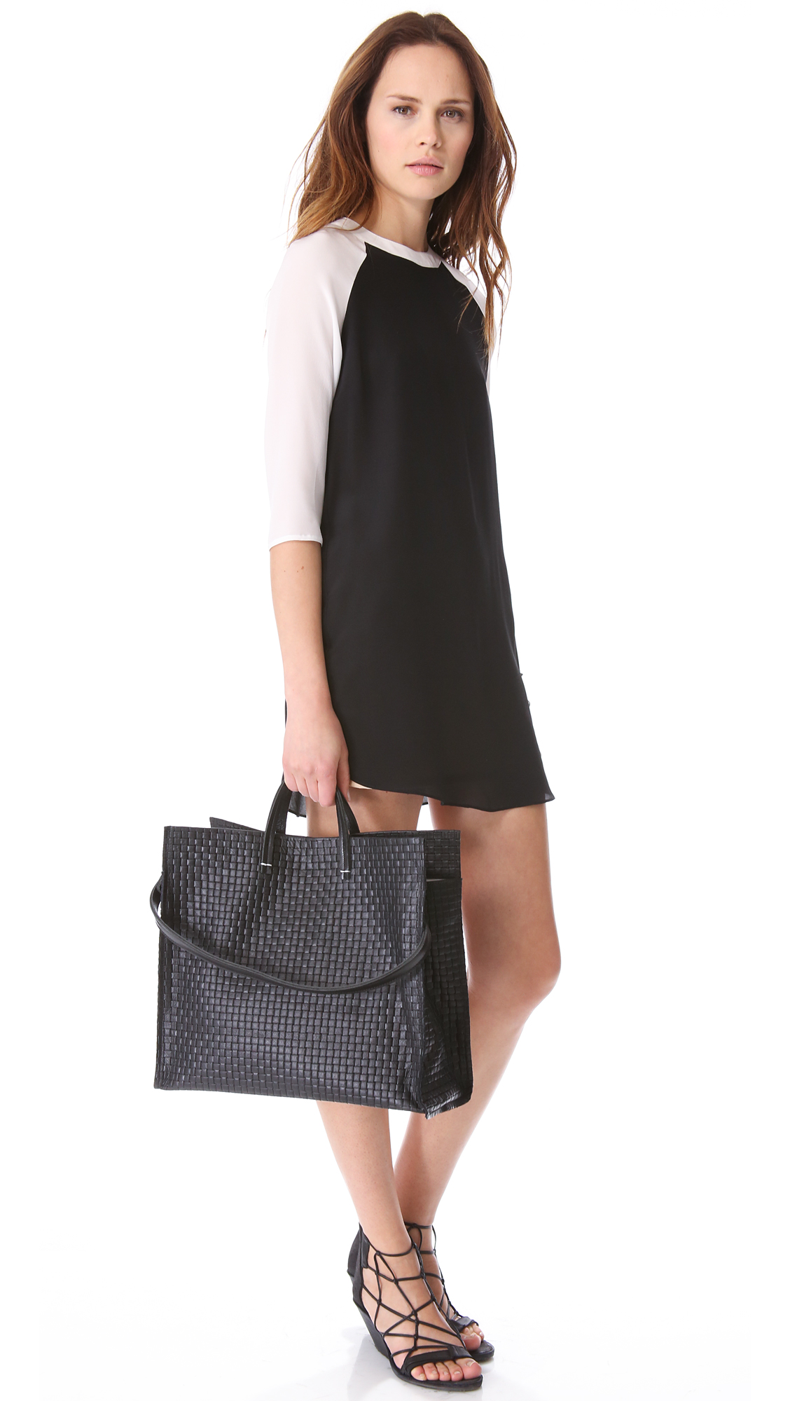 Lyst Clare V Simple Woven Tote In Black