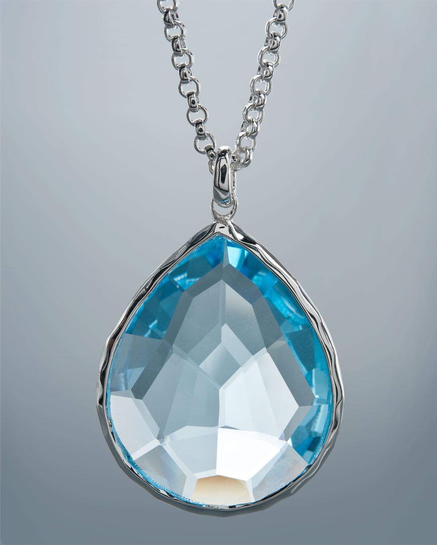 ippolita topaz pendant necklace large in blue lyst. Black Bedroom Furniture Sets. Home Design Ideas