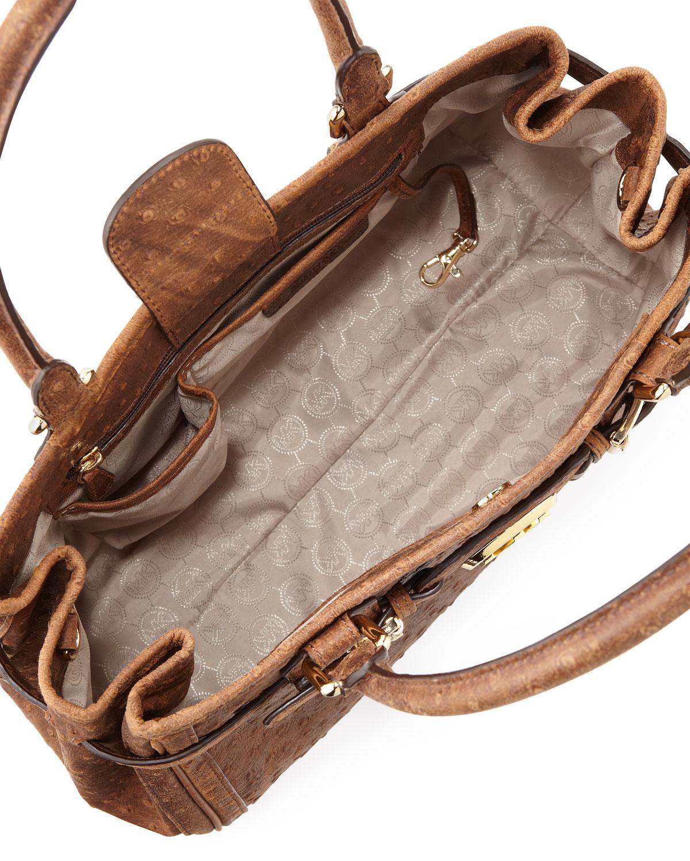 df5ed065e9db MICHAEL Michael Kors Hudson Large Vintage Ostrichembossed Tote Bag ...