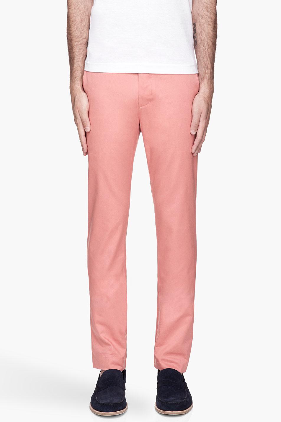 3d071ed6f932e Shipley & Halmos Salmon Pink Belmont Trousers for men