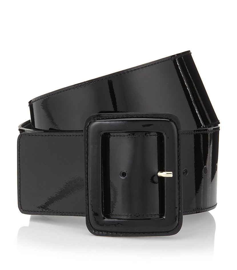 cc6ab34125219 St. John Wide Patent Leather Belt in Black - Lyst