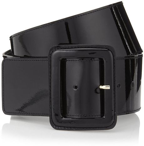 st wide patent leather belt in black lyst