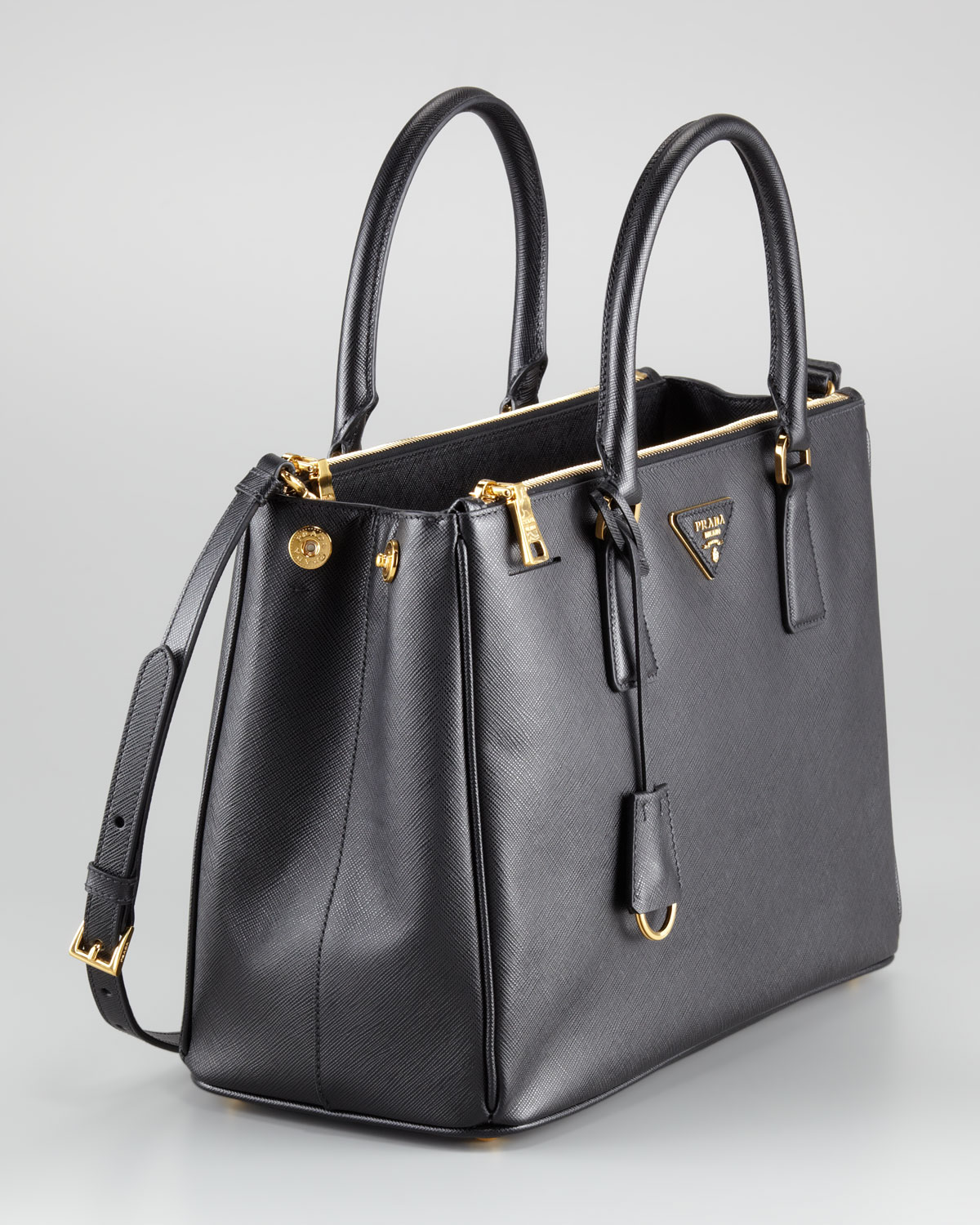 2b92c771fe0011 ... coupon code for lyst prada saffiano small executive tote in black 3c848  9a9c8