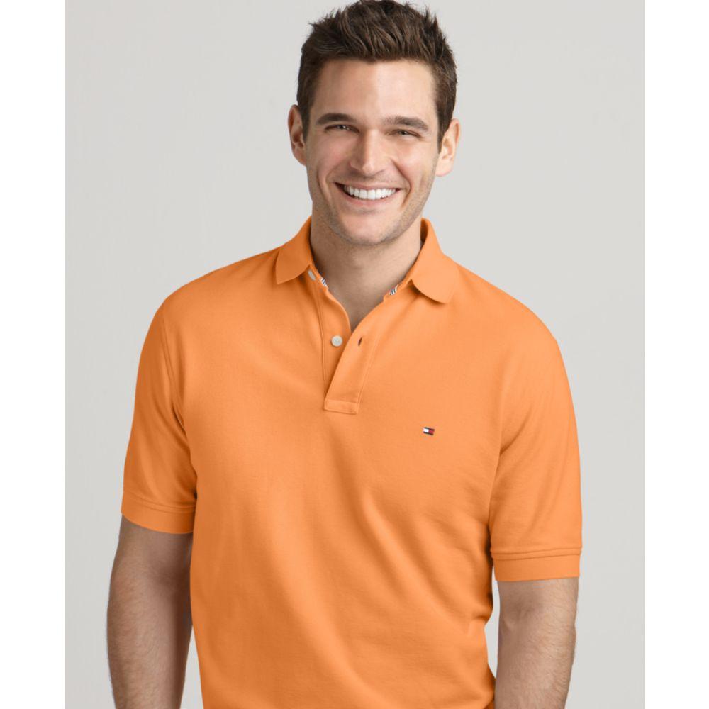 07d9281d4 Tommy Hilfiger Ivy Solid Polo Shirt in Orange for Men - Lyst