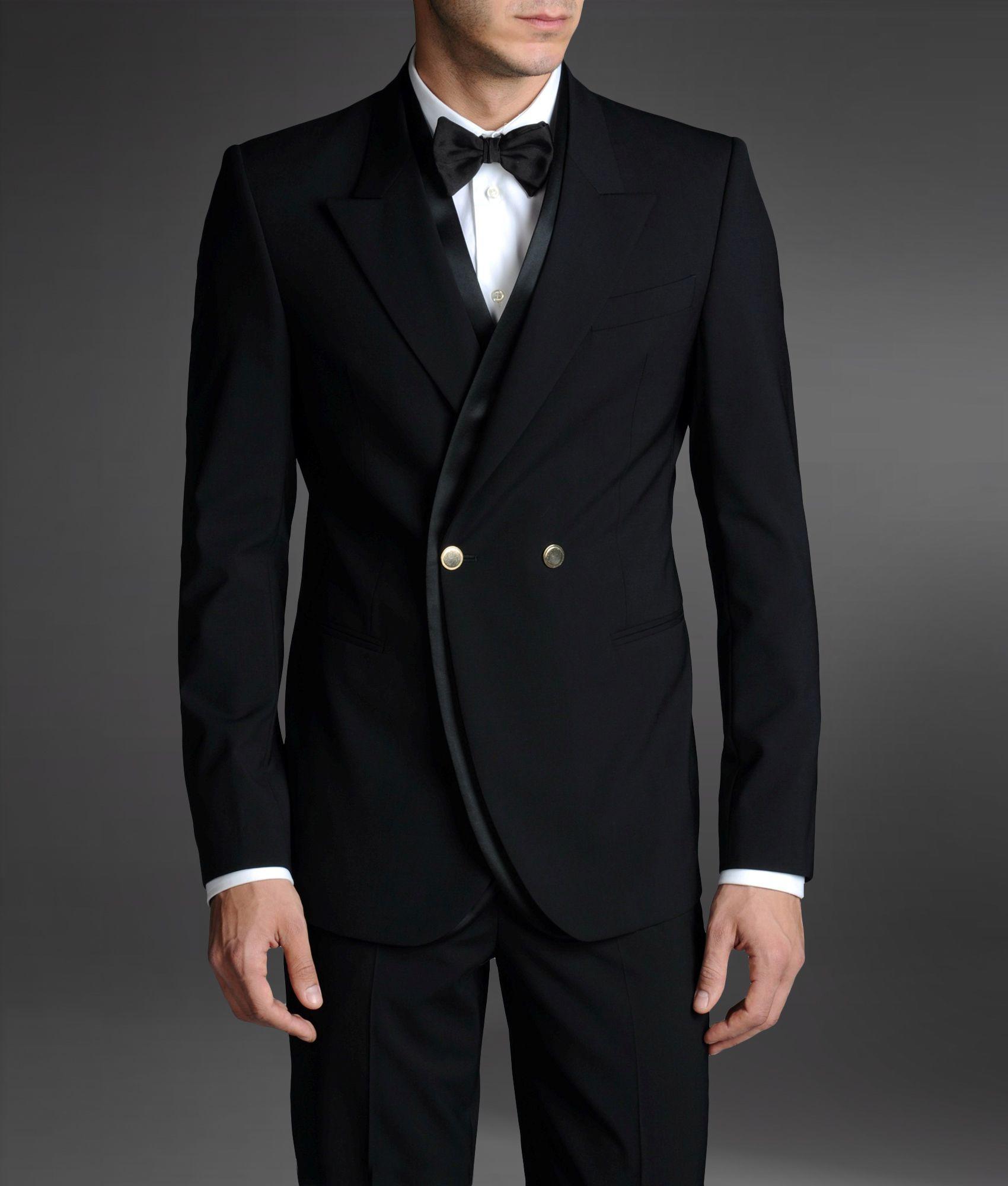 Tuxedo: Emporio Armani Tuxedo Jacket With Peak Lapels In Black For