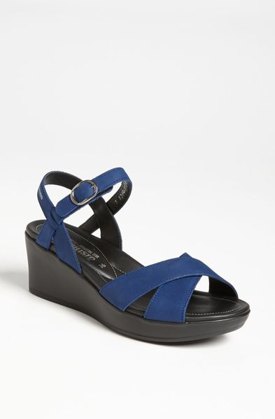 Mephisto Partelia Sandal Online Exclusive In Blue Electric Blue Bucksoft Lyst
