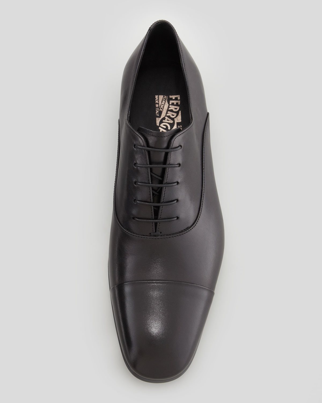 Ferragamo Fantino Lace-up Shoe, Black