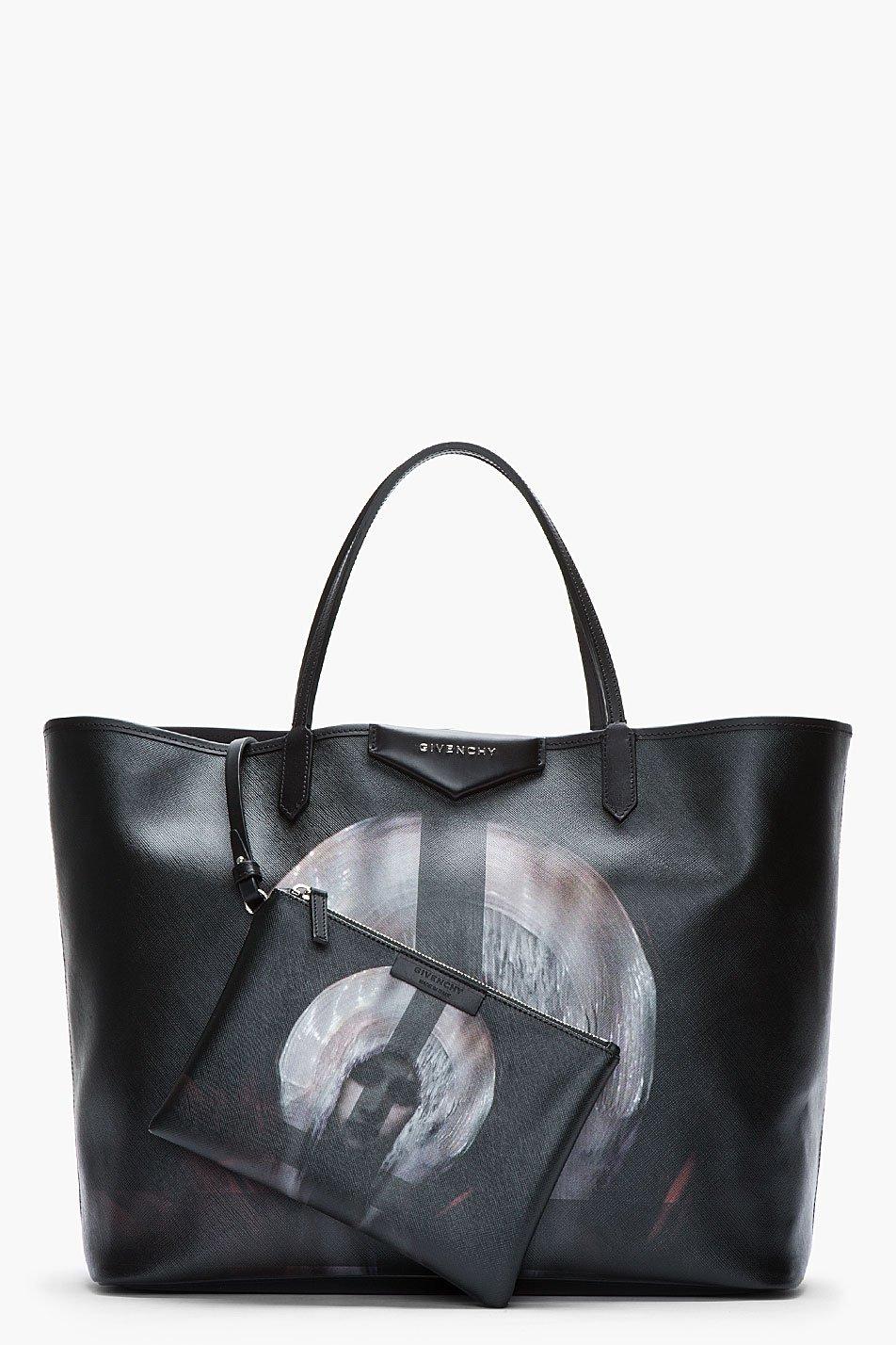 Lyst - Givenchy Large Black Pvc Madonna Printed Antigona Shopper ... 8112a8439a930