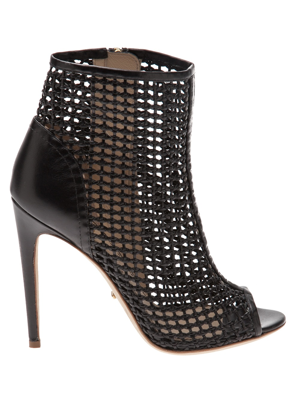 Jerome C. Rousseau Juda Woven Bootie in Black