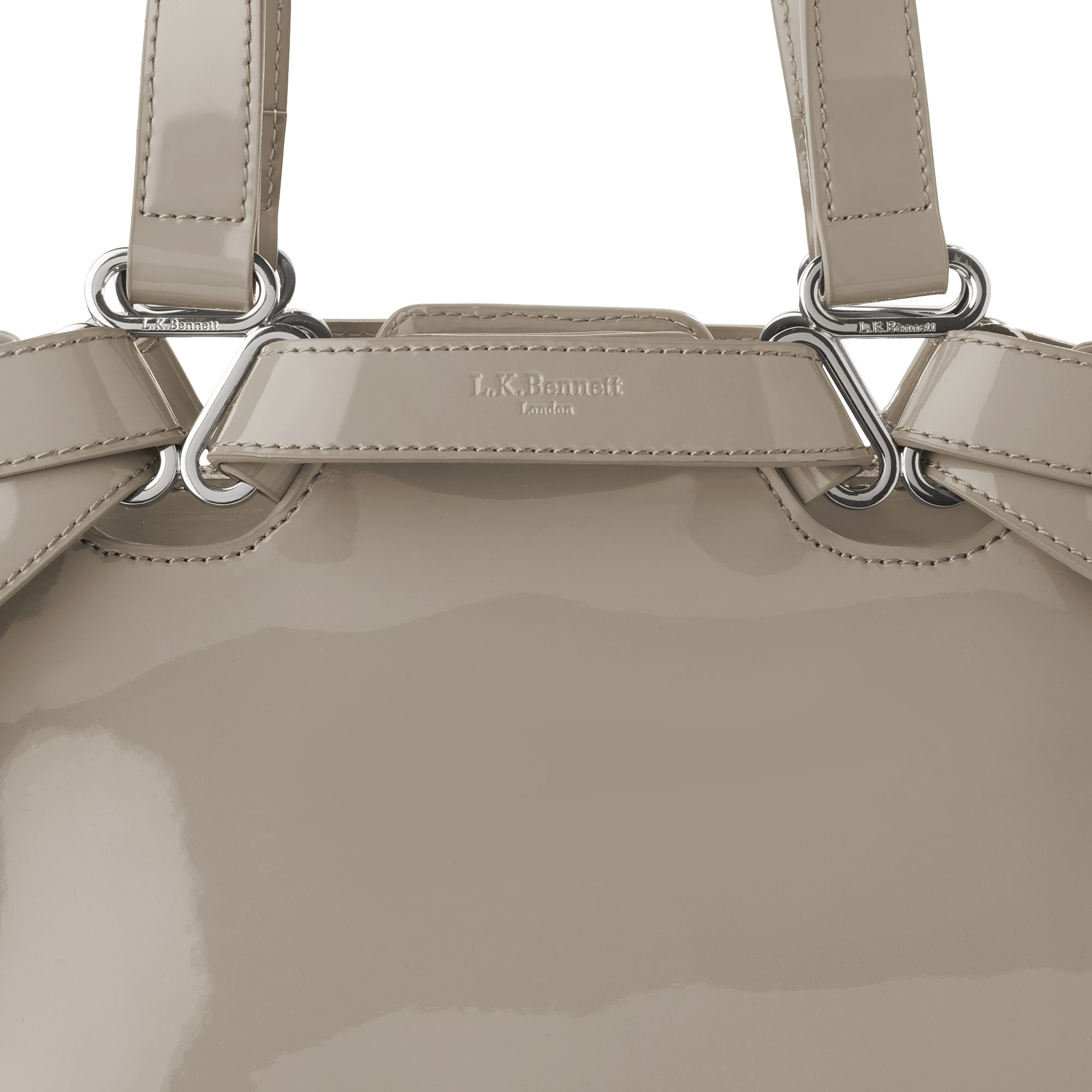 L.K.Bennett Mae Large Tote Bag in Clay (Grey)