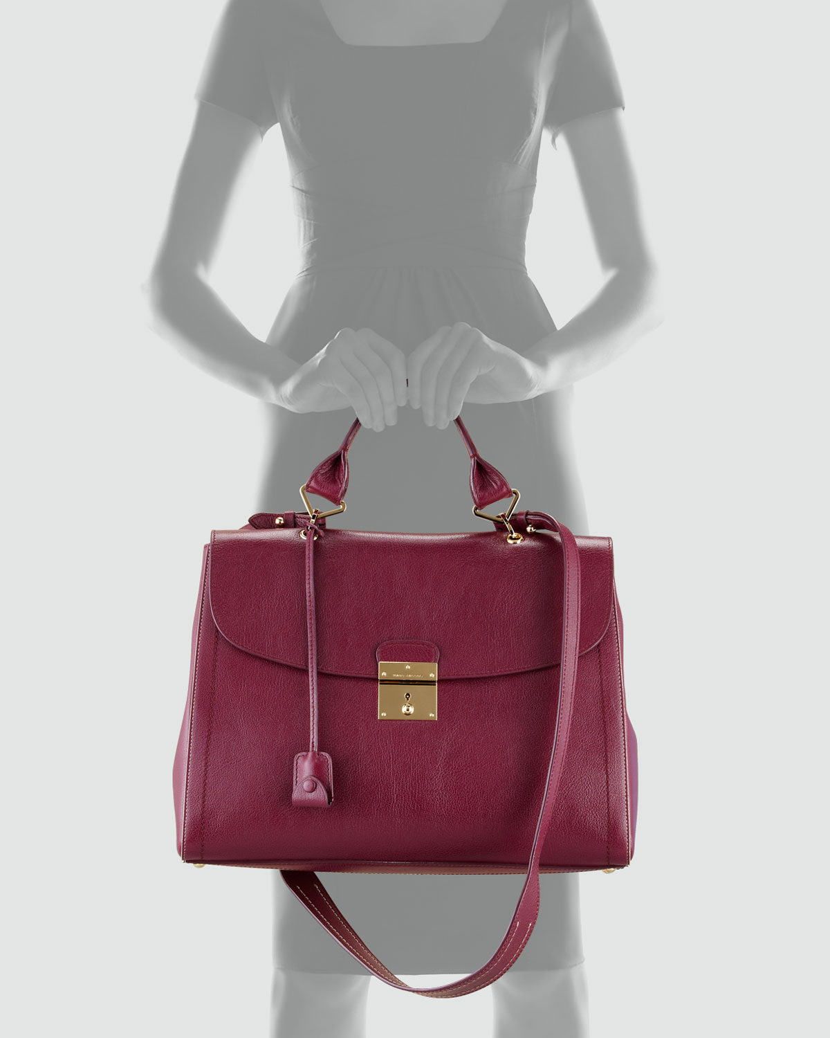 Marc jacobs The Satchel Bag in Purple | Lyst
