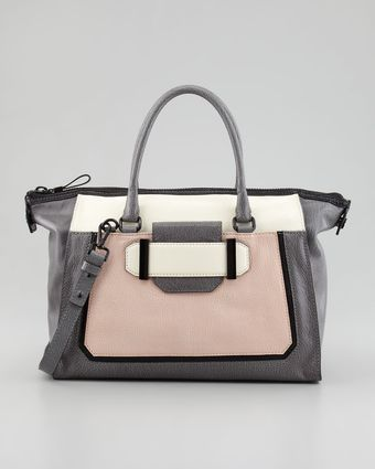 Milly Kelly Colorblock Leather Satchel Bag - Lyst
