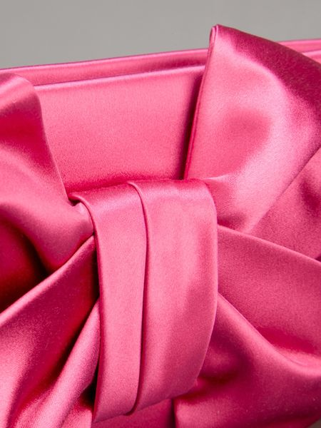 Valentino Bow Detail Clutch Bag In Pink Fuschia Lyst