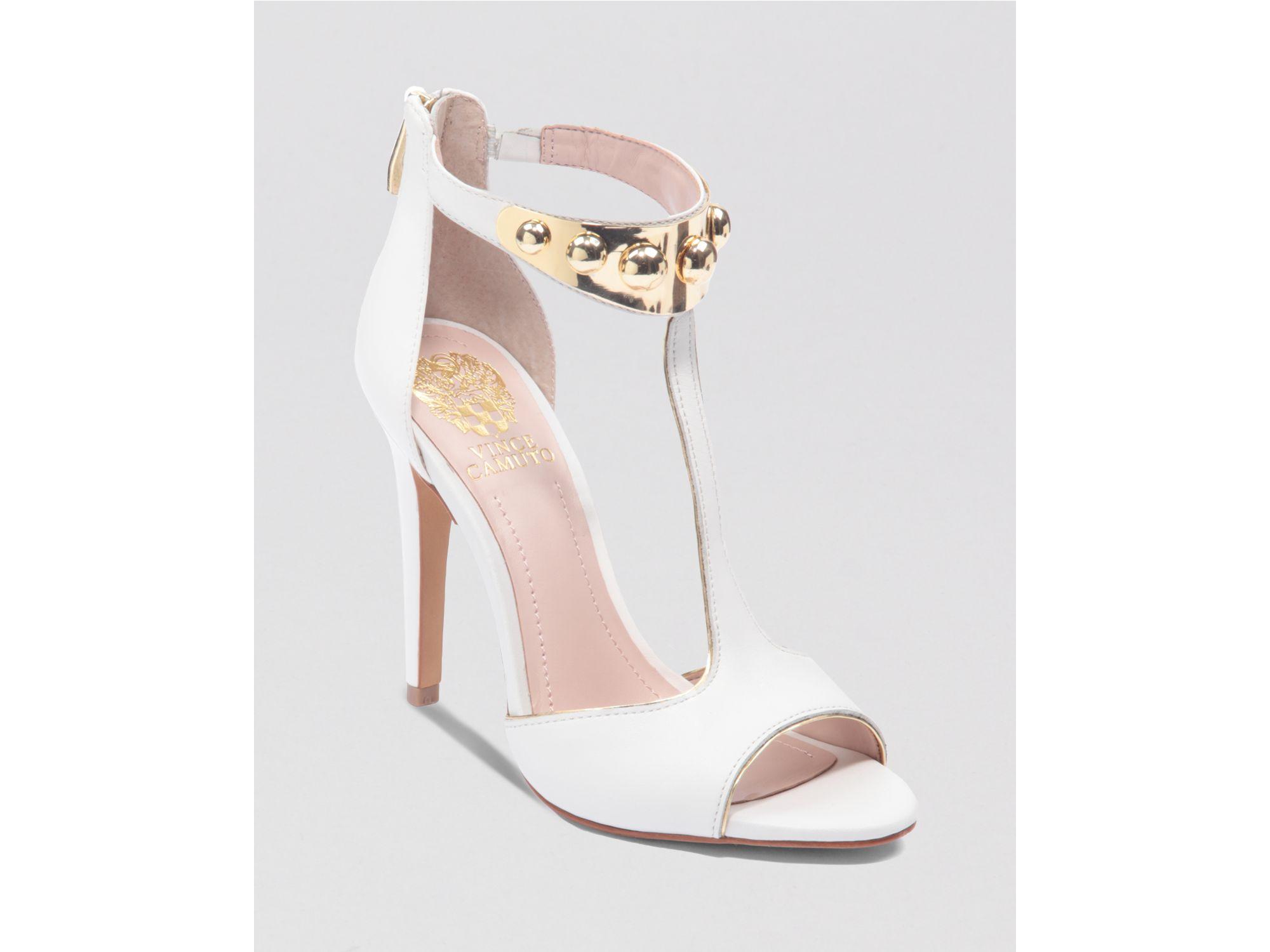 Vince Camuto Sandals Kelva High Heel In White White Gold
