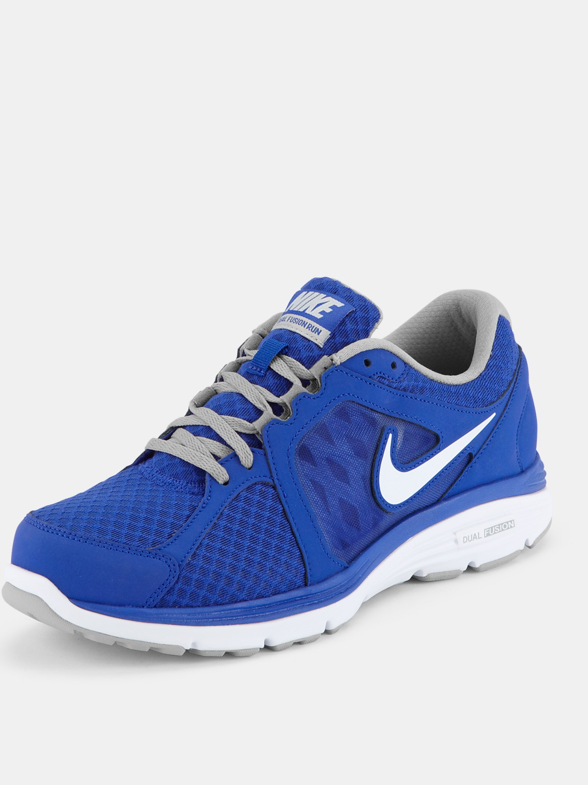 nike dual fusion run breathe mens trainers in blue for men blue white lyst. Black Bedroom Furniture Sets. Home Design Ideas