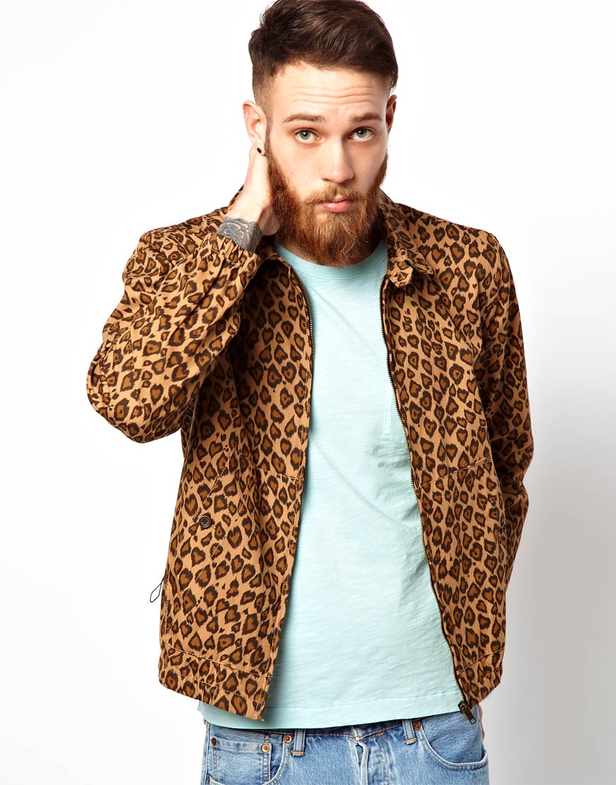 3fc56fa7b9 YMC Jacket with Leopard Print in Natural for Men - Lyst