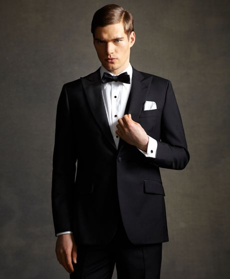 The great gatsby collection peak lapel tuxedo jacket in black for men