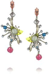 Erickson Beamon Nexus Swarovski Crystal Earrings