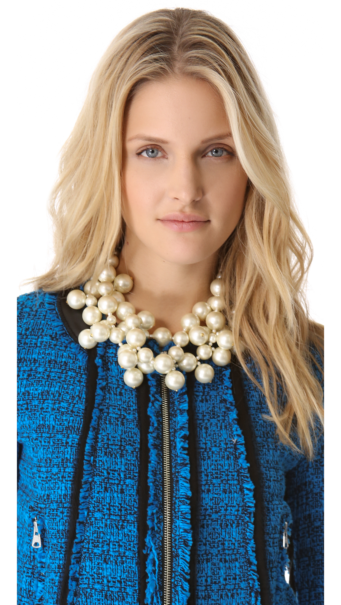 Lyst Kenneth Jay Lane Multi Strand Cluster Necklace In White