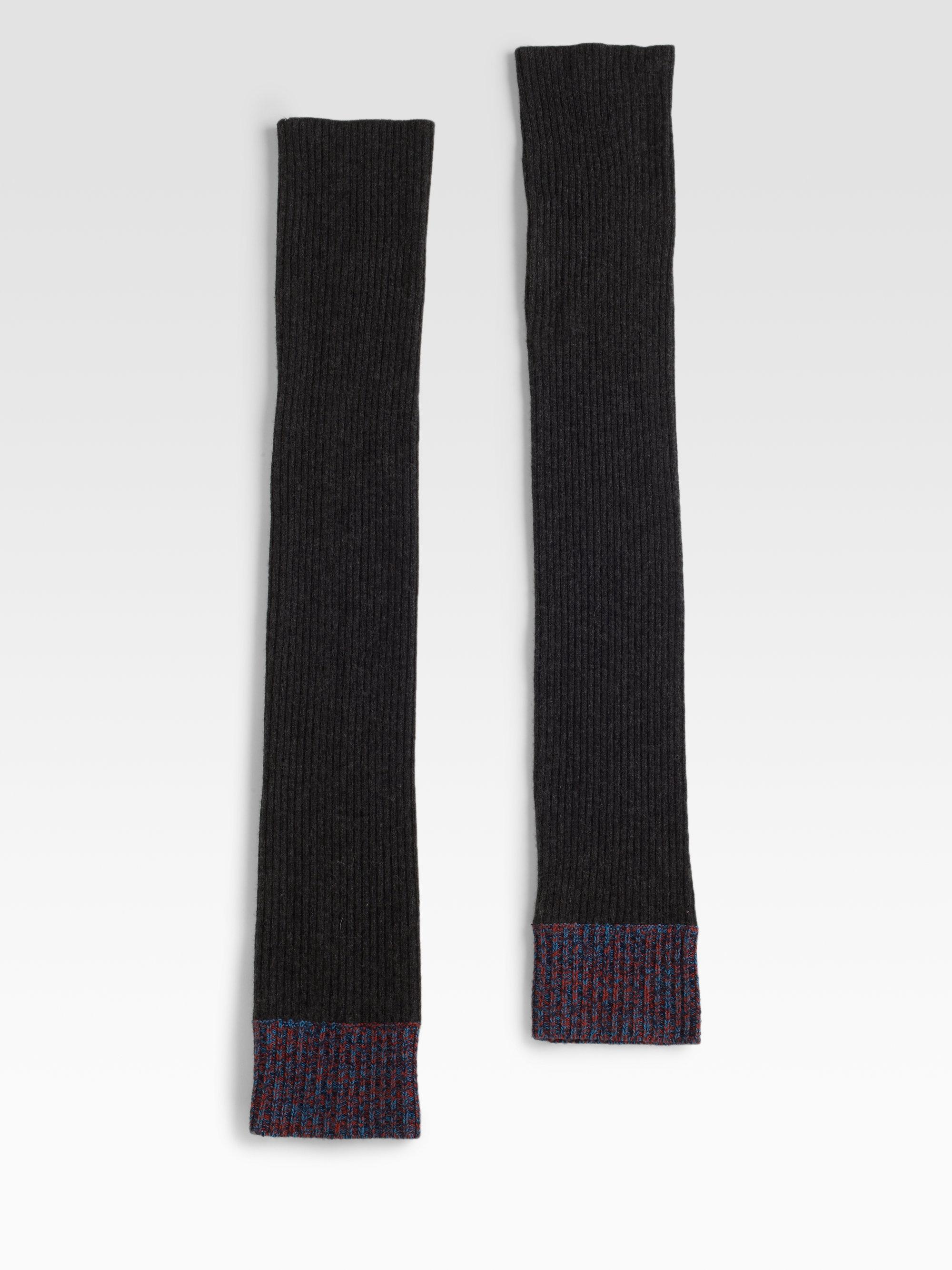 Rag & Bone Shoreditch Leg Warmers In Dark Charcoal (Black