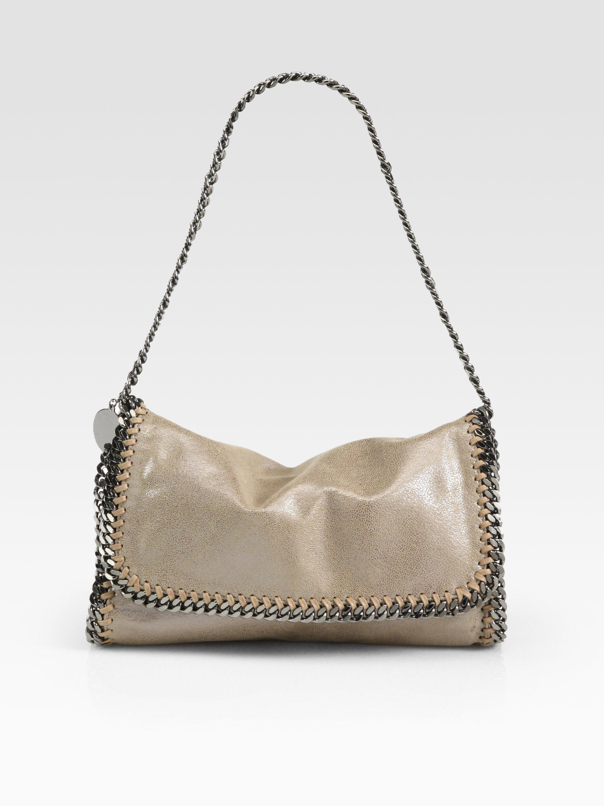 7c087a49d4 Stella Mccartney Metallic Shoulder Bag in Brown - Lyst