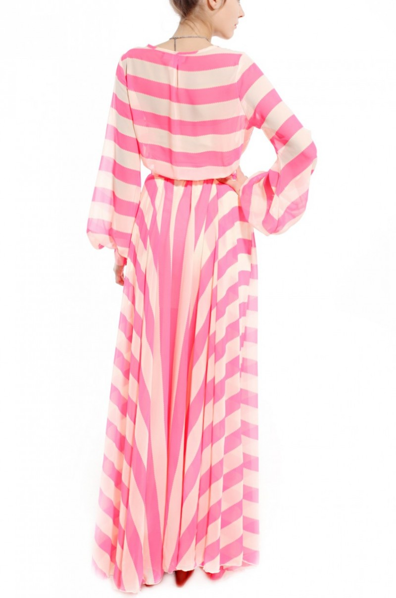 Image result for PINK STRIPE DRESS GOWN