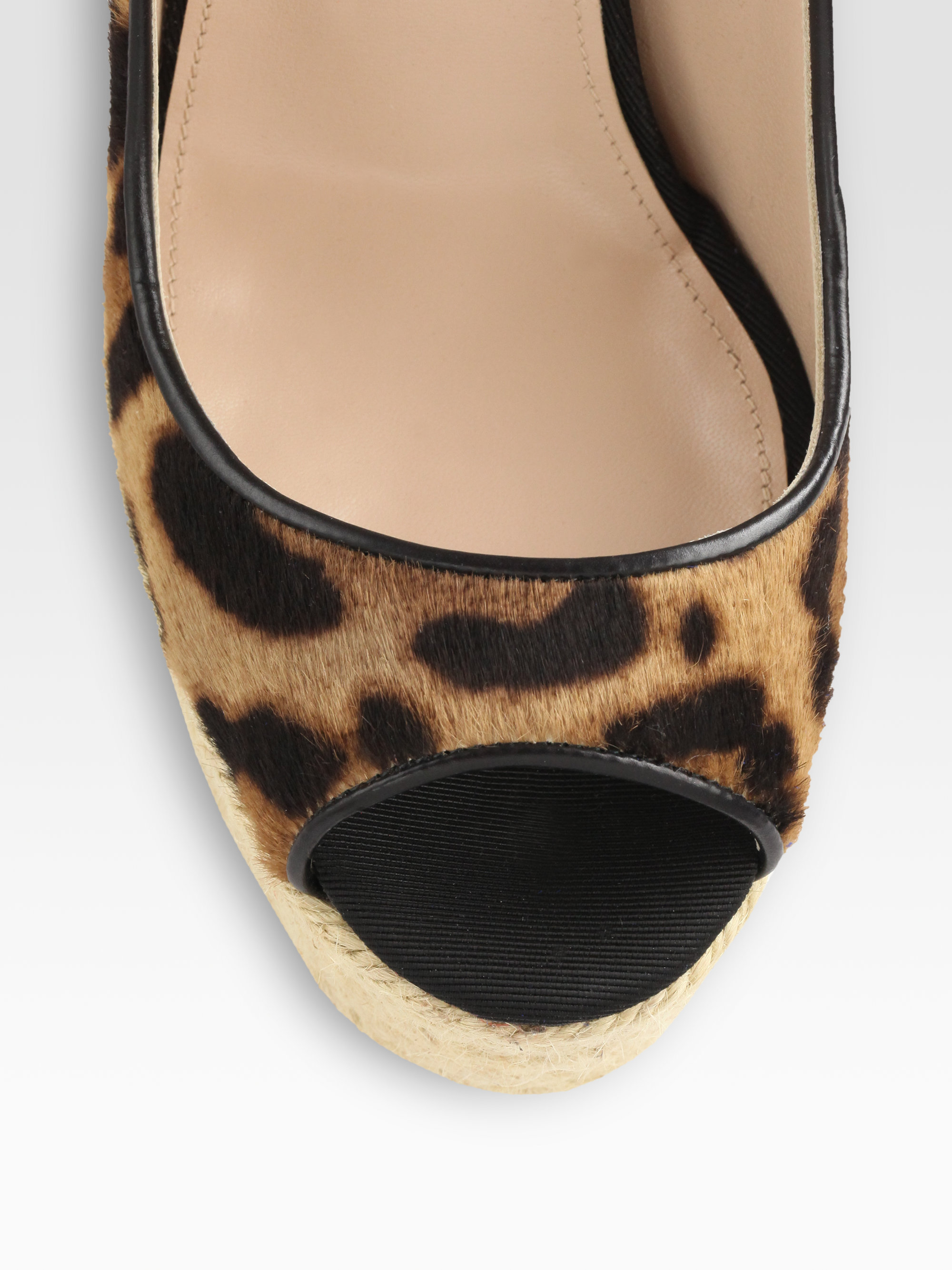 Brian Atwood Cailey Leopardprint Pony Hair Leather