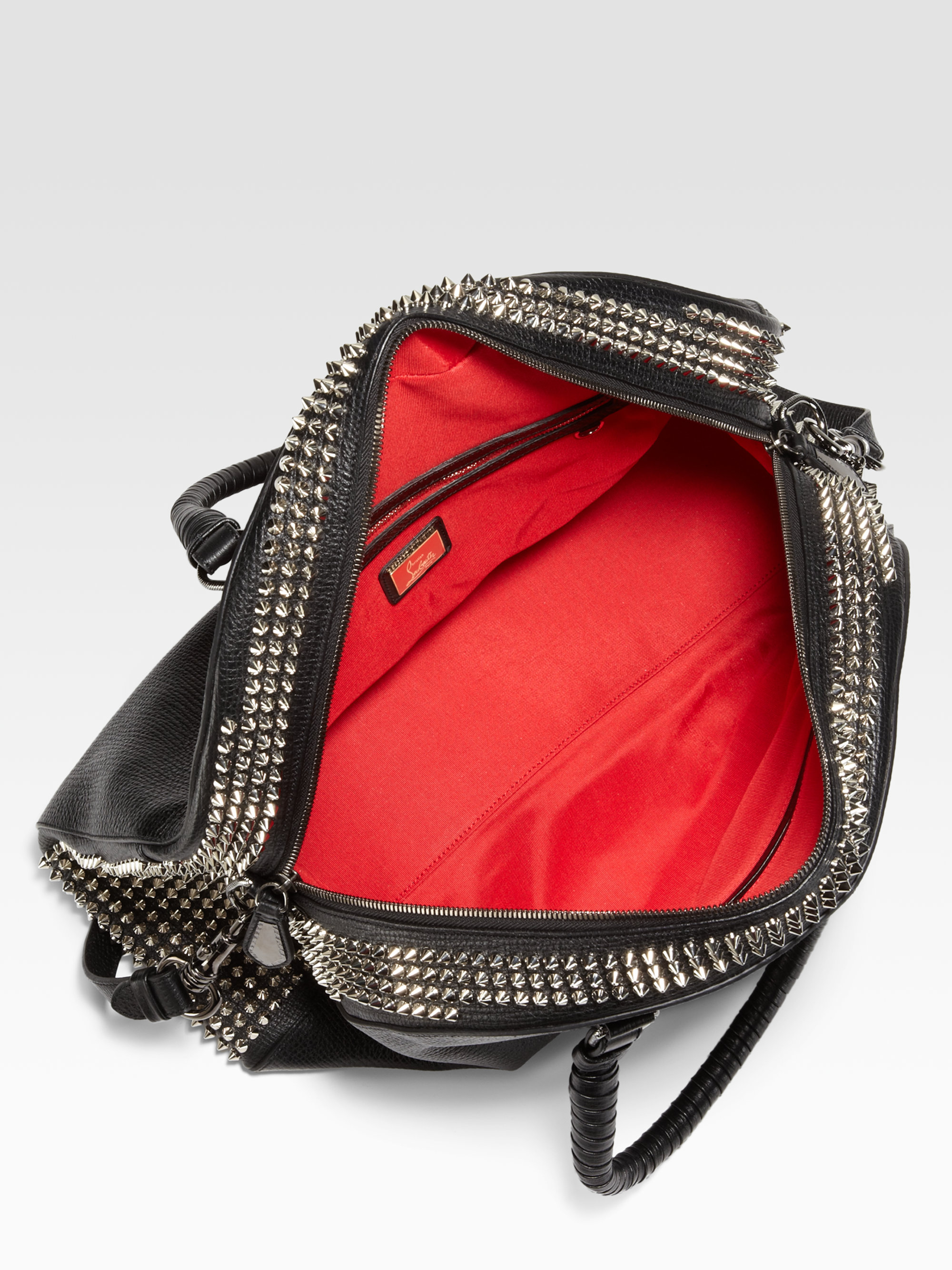 2f158a809cf Christian Louboutin Black Panettone Large Studded Shopping Bag