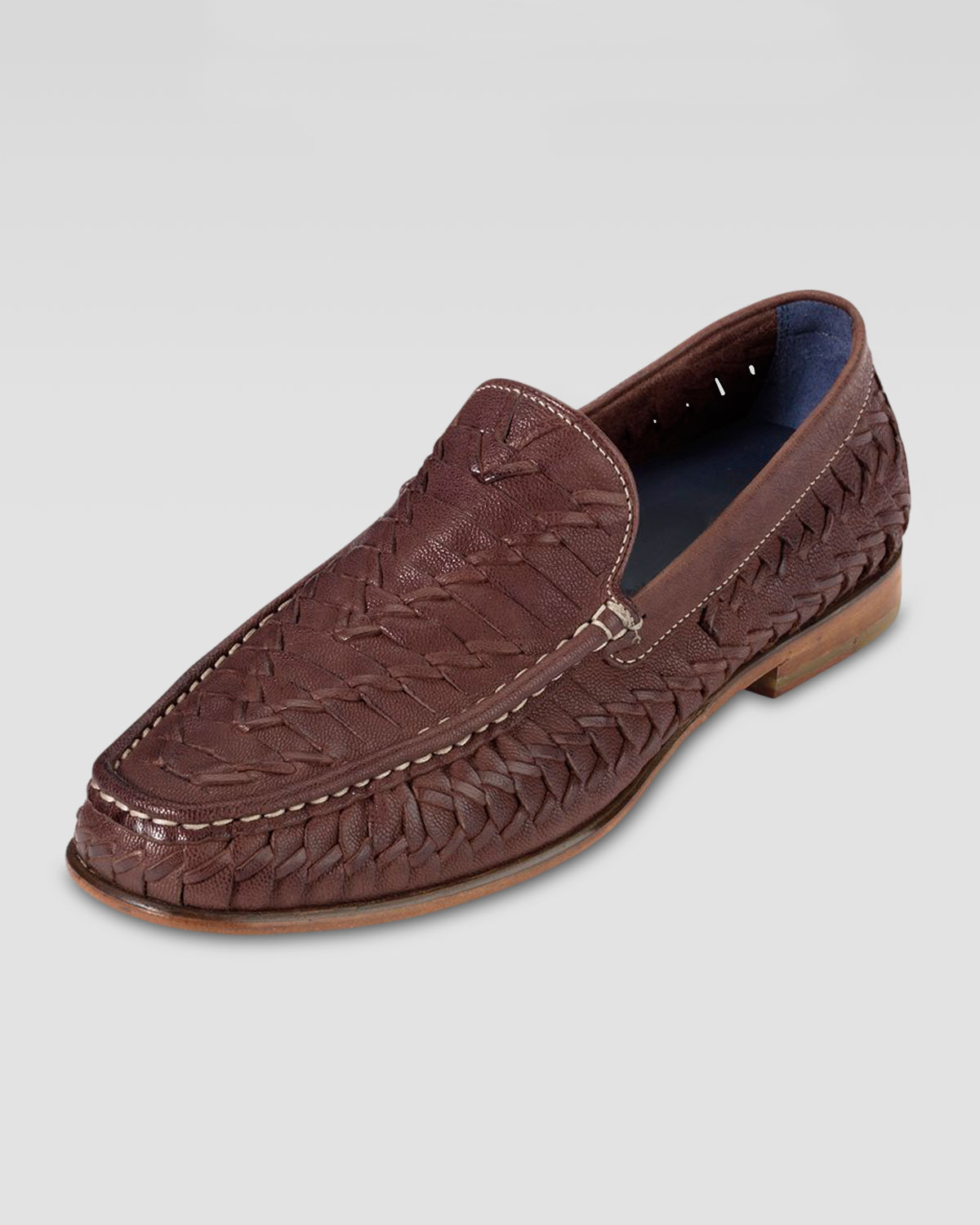 54df46abe42 Lyst - Cole Haan Air Tremont Woven Leather Loafer Brown in Brown for Men