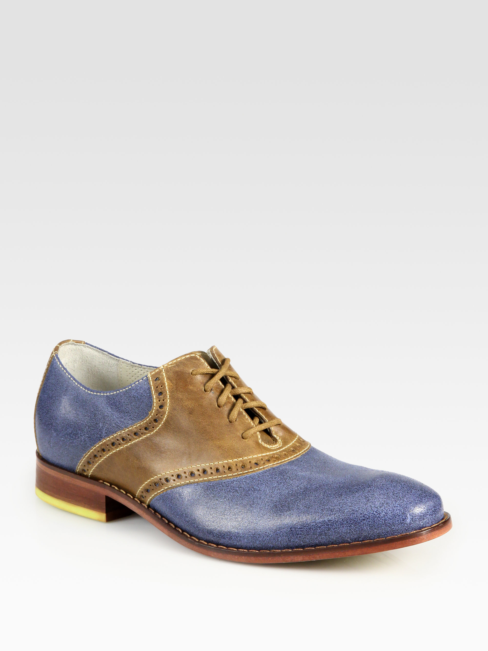 Lyst Cole Haan Air Colton Saddle Shoe In Blue For Men