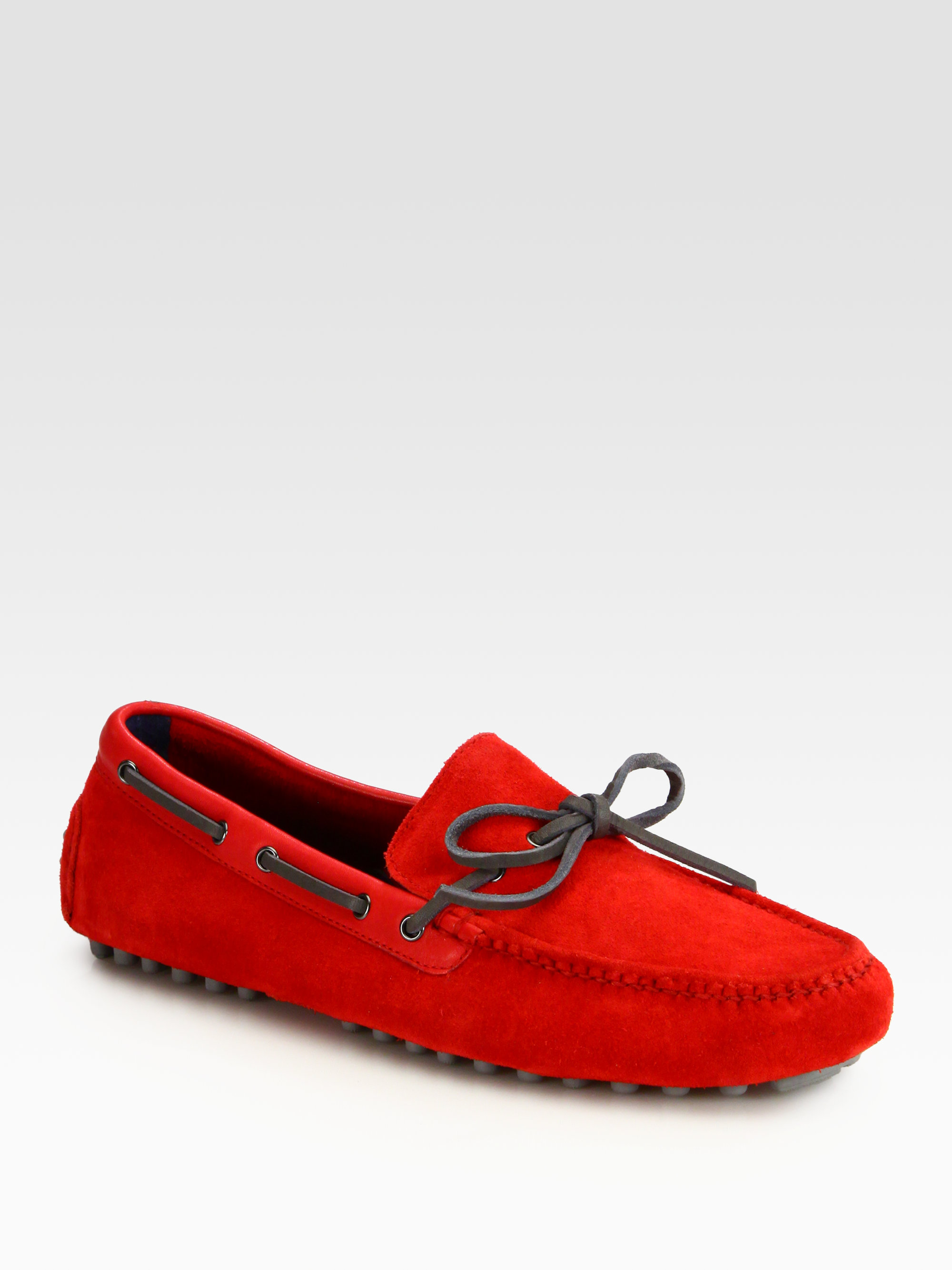 Lyst Cole Haan Air Grant Driving Moccasins In Red For Men