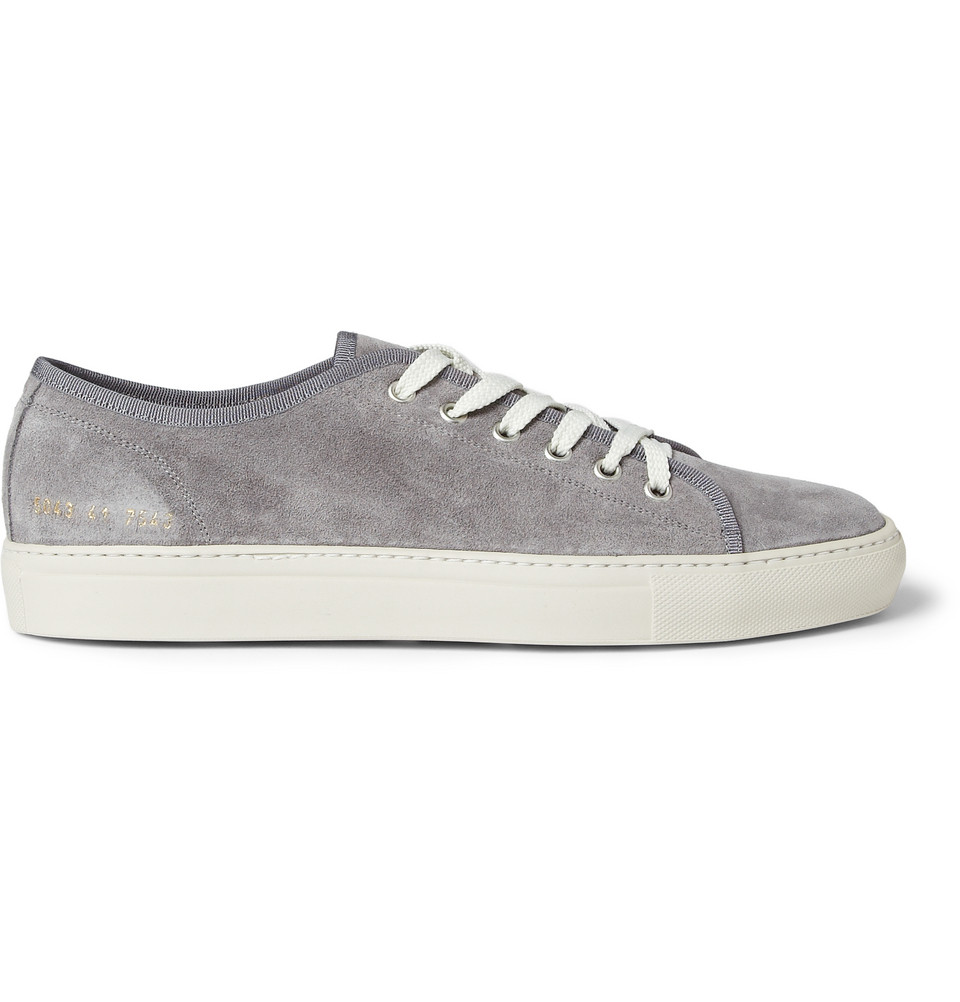 Common projects Tournament Suede Sneakers in Gray for Men ...