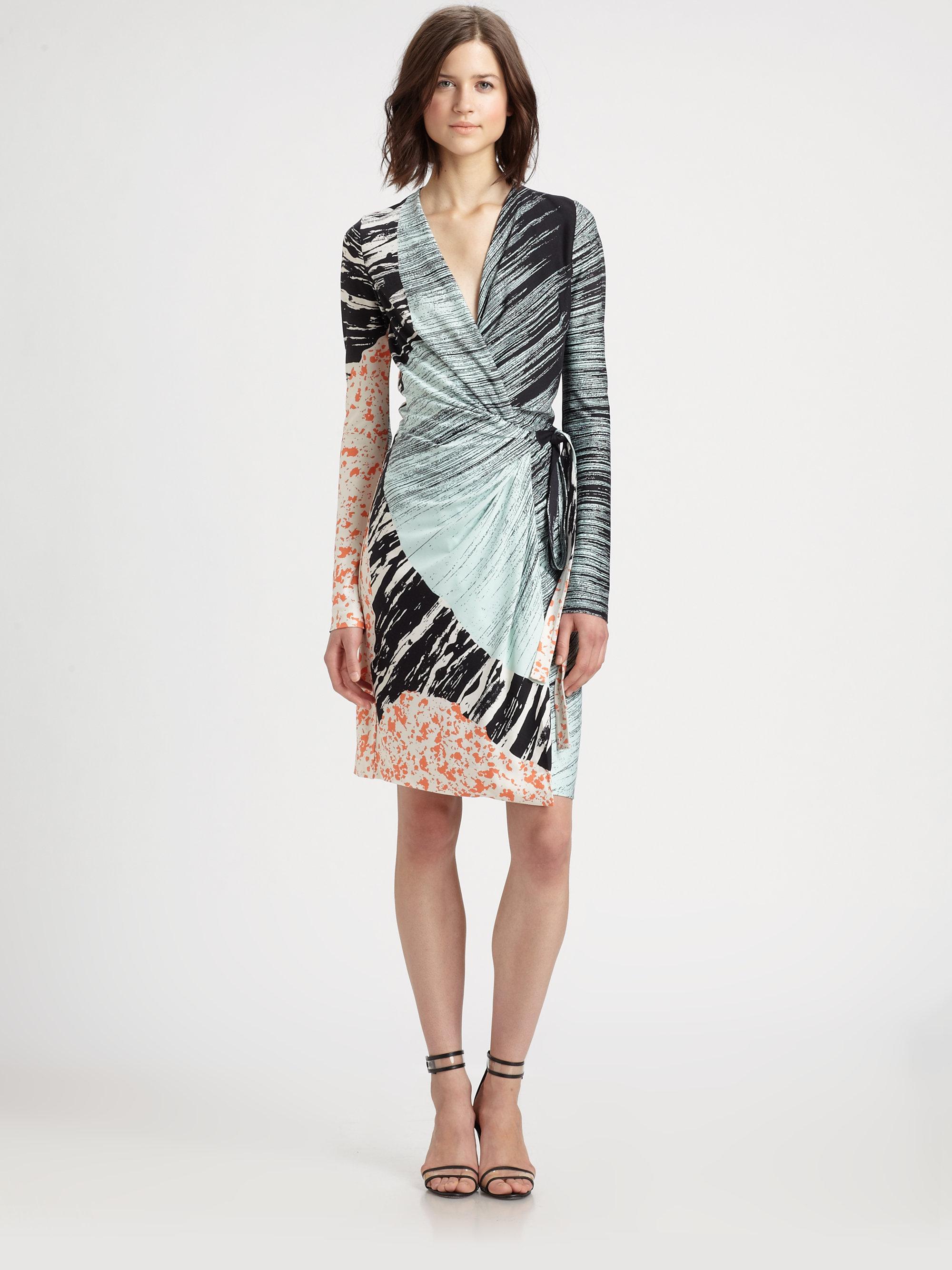 Diane von furstenberg valencia printed silkjersey wrap for Diane von furstenberg clothes