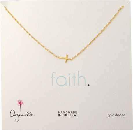 dogeared faith cross necklace in gold lyst